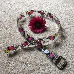 Clear Plastic Women's Belt
